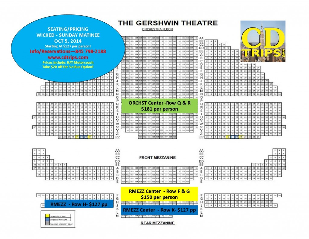 Gershwin Theater Seating Chart Wicked | Wallseat.co on paper mill playhouse seating map, cadillac palace seating map, ohio theater seating map, schottenstein center seating map, gershwin theatre parking, charles playhouse seating map, gershwin theatre box office, sarofim hall seating map, jacksonville veterans memorial arena seating map, longacre theater seating map, studio 54 seating map, gershwin theatre ny seating-chart,