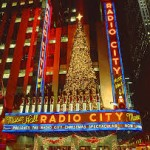 Radio City Music Hall Lit up like a Xmas Tree